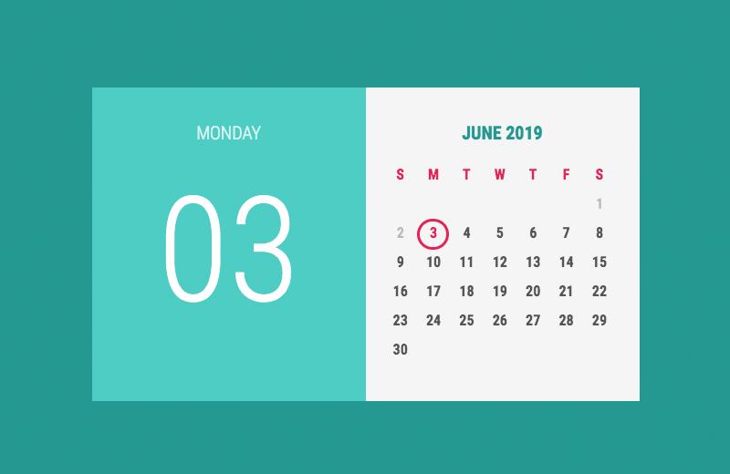 Jquery Calendar Codepen