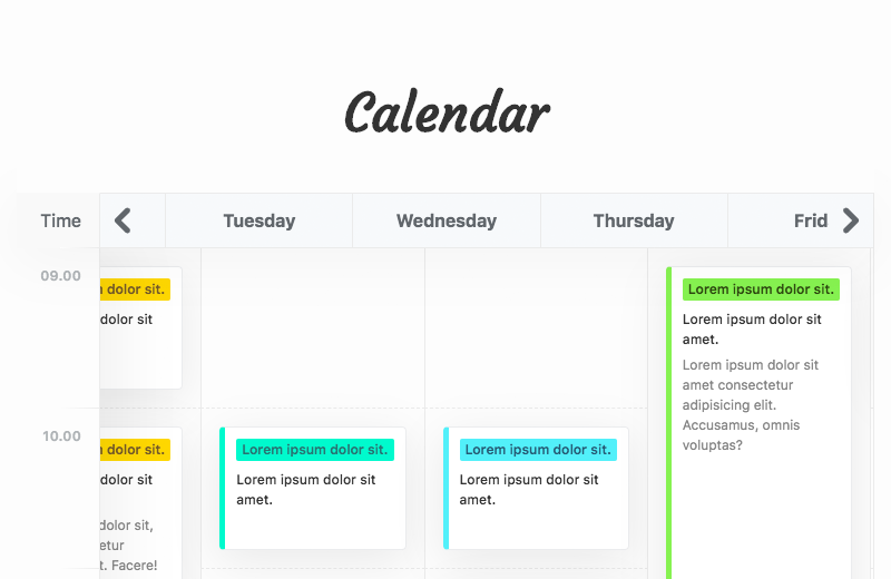 CSS Calendar Examples From CodePen - Freebie Supply