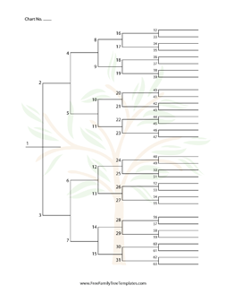 simple blank family tree