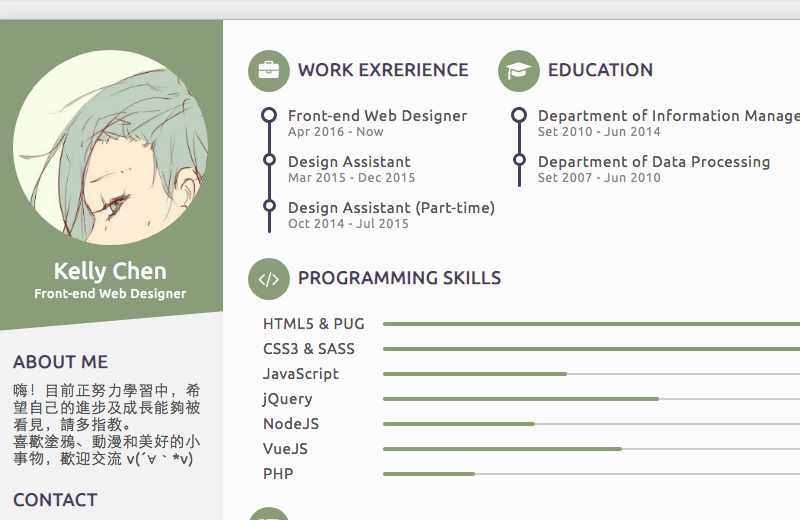 HTML Resume & Portfolio Templates From CodePen - Freebie Supply