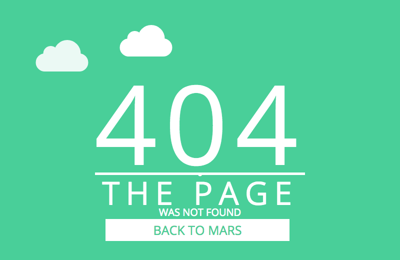 404 Page Templates From CodePen - Freebie Supply