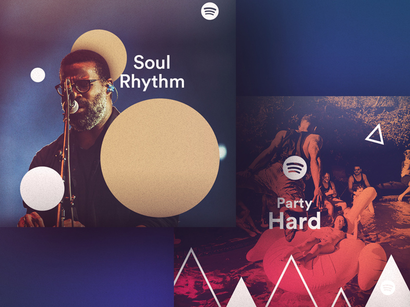6 Hipster Spotify Playlist Art Concept: Free PSD - Freebie
