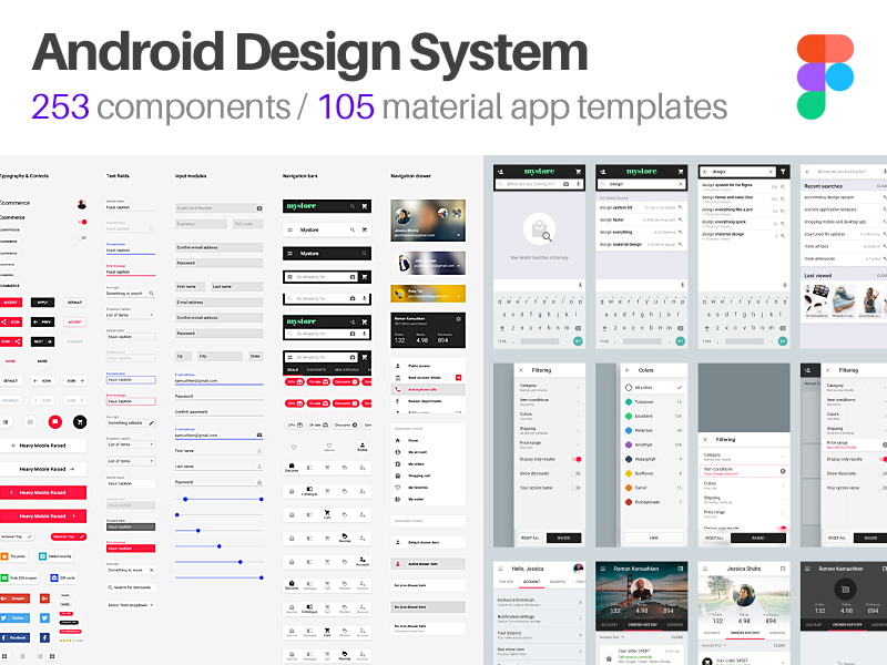 Android UI Design Templates for Figma - Freebie Supply
