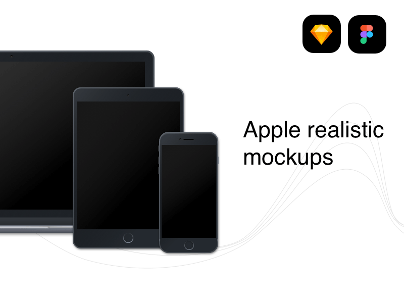 Apple Devices Realistic Mockups for Figma - Freebie Supply