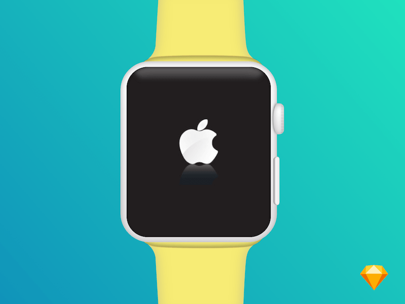 Apple Watch Mockup - Free Sketch - Freebie Supply