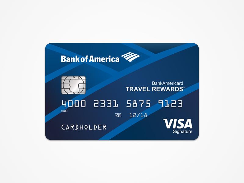 bank of america travel rewards card template free sketch freebie