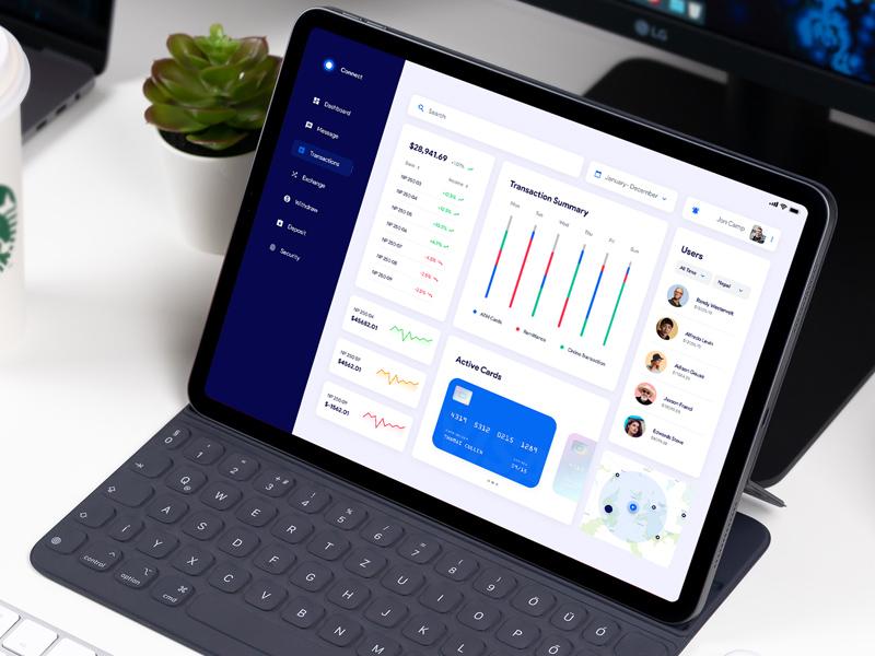 Banking App UI Dashboard