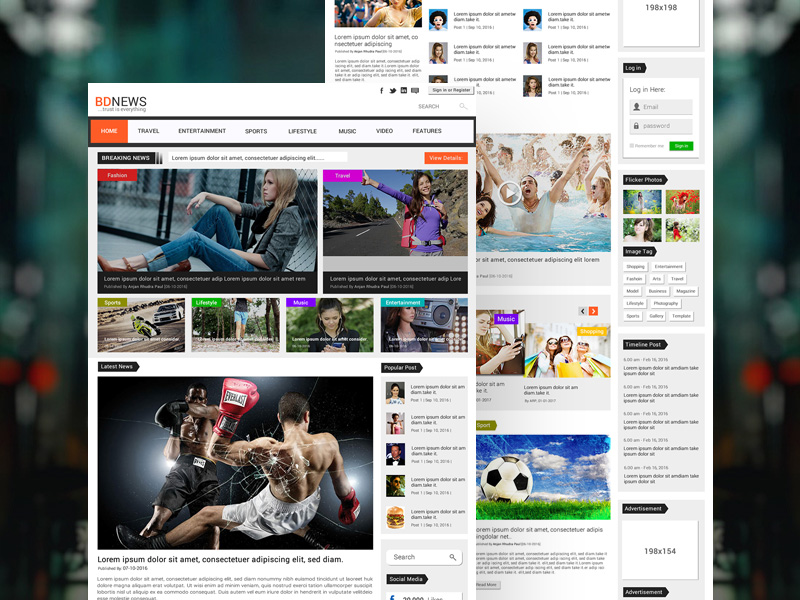Bdnews Newspaper Website Template Free Psd Freebie Supply