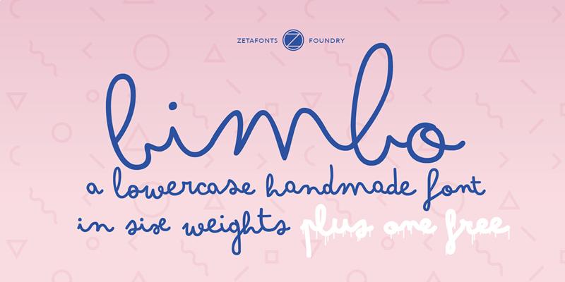Bimbo Font - Free Monoline Type Family - Freebie Supply