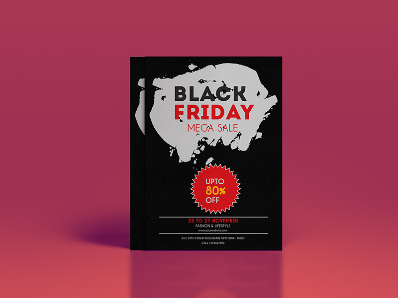 71ad9ac3a04a8 Black Friday Flyer Template by Lisa B. Isabella - Freebie Supply