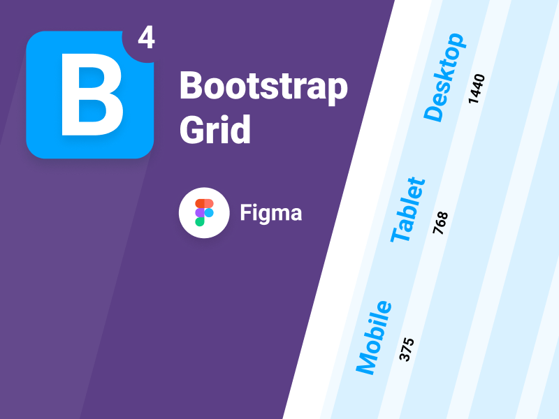 Bootstrap 4 Grid for Figma - Freebie Supply