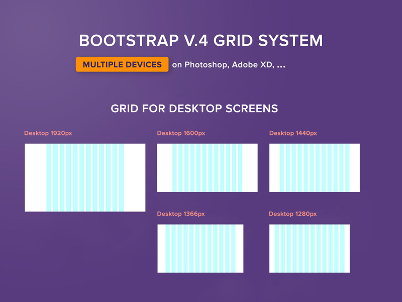 Bootstrap 4 Grid System - Freebie Supply