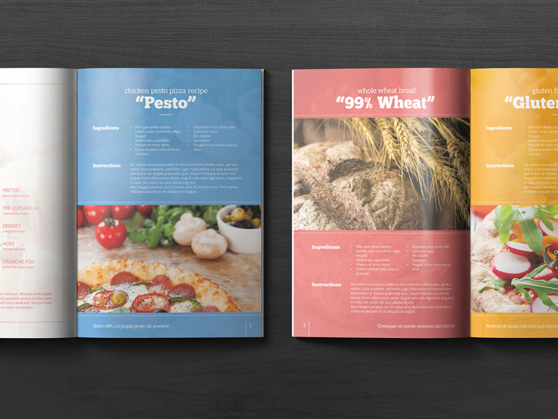 cookbook gift template free psd freebie supply
