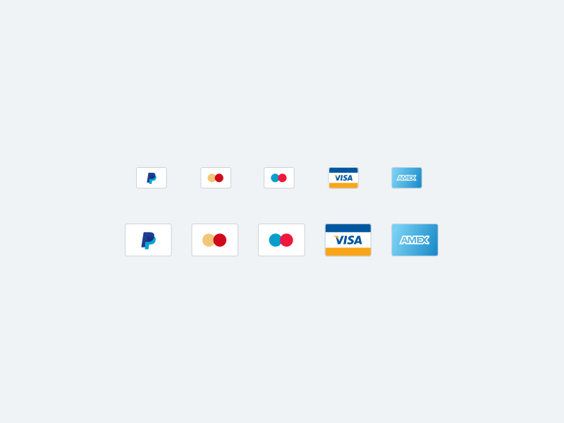 Credit Cards Icons for Sketch - Freebie Supply