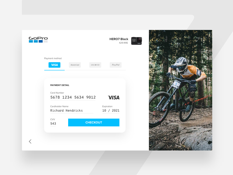 Credit Card Checkout - Adobe XD - Freebie Supply