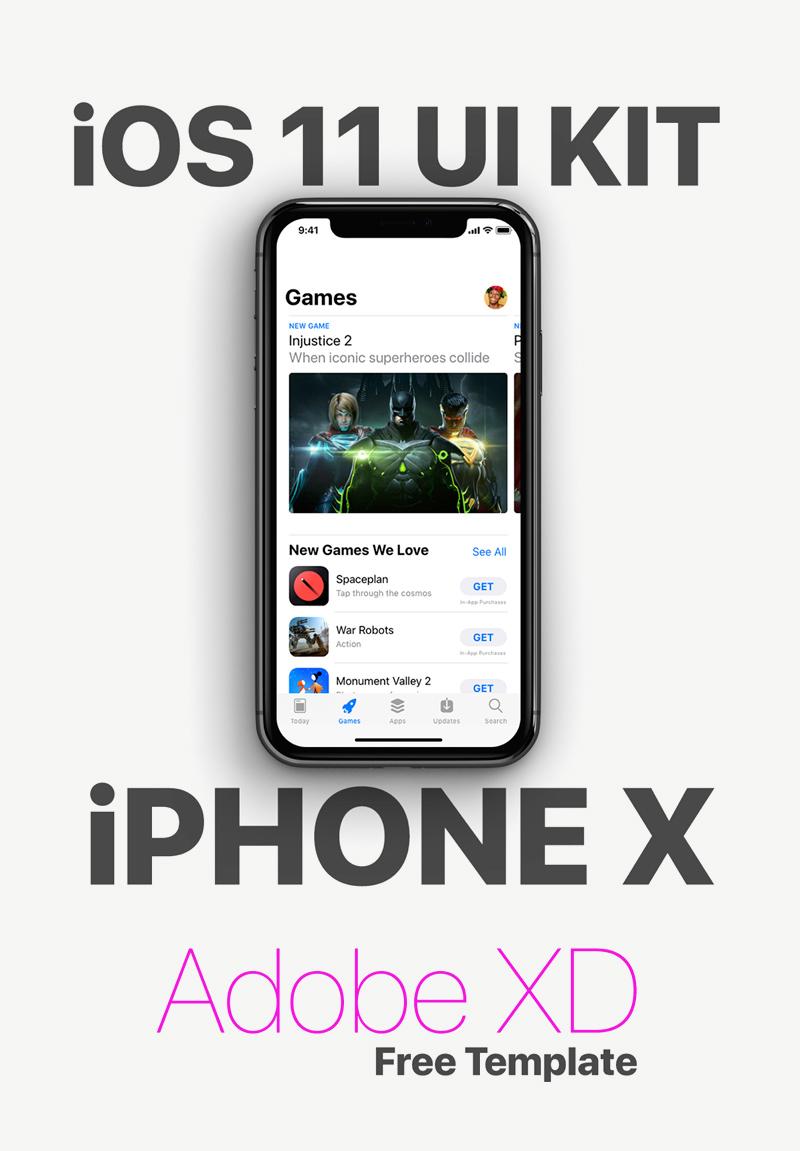 Adobe XD iOS 11 UI Kit - Freebie Supply