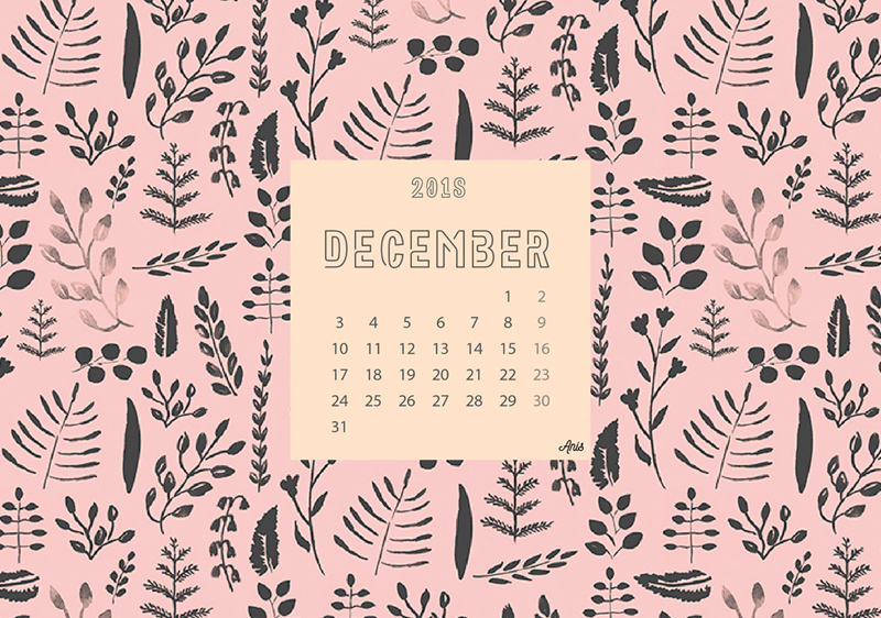2018 Calendar Freebie Supply