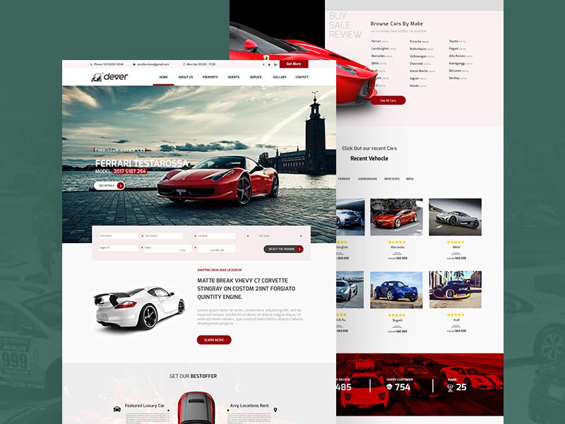 9 best free vehicle psd website templates digitaltemplatemarket.
