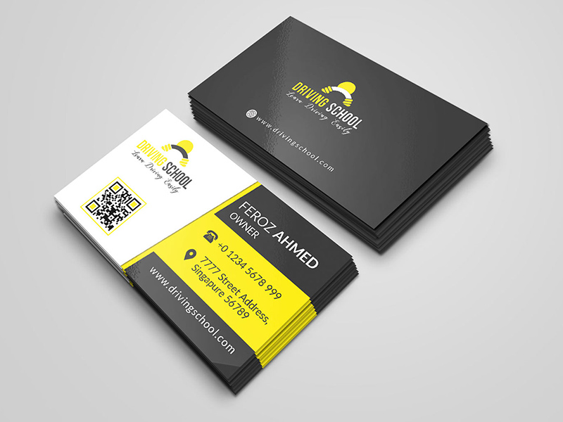 driving school business card - free resource