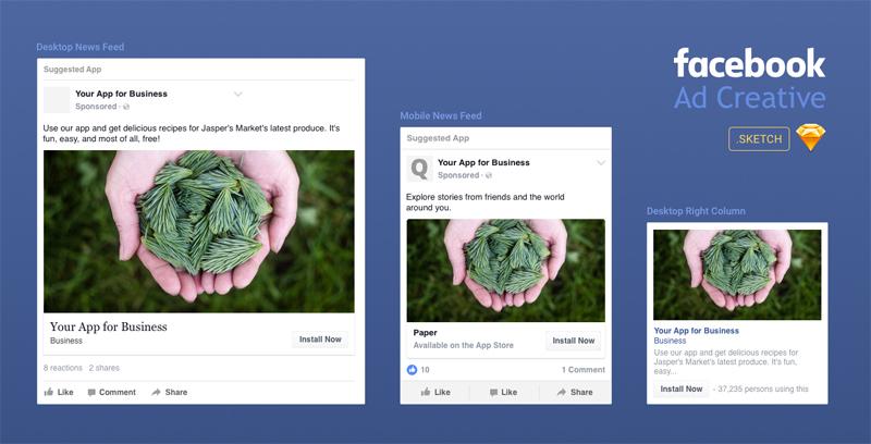 facebook ad creative template made in sketch freebie supply