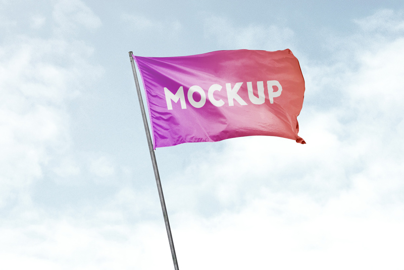 free flag mockup freebie supply