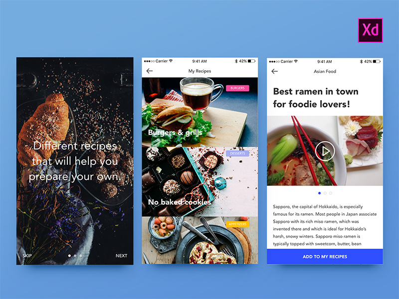 14 Free Food UI Kits for Photoshop, Sketch & Adobe Experience Design