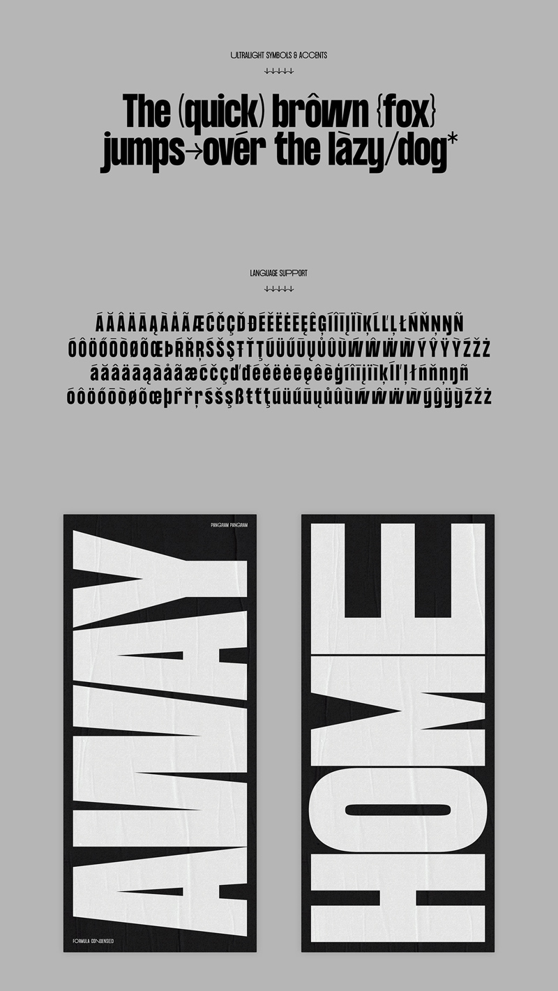 Formula Consensed Font - Freebie Supply