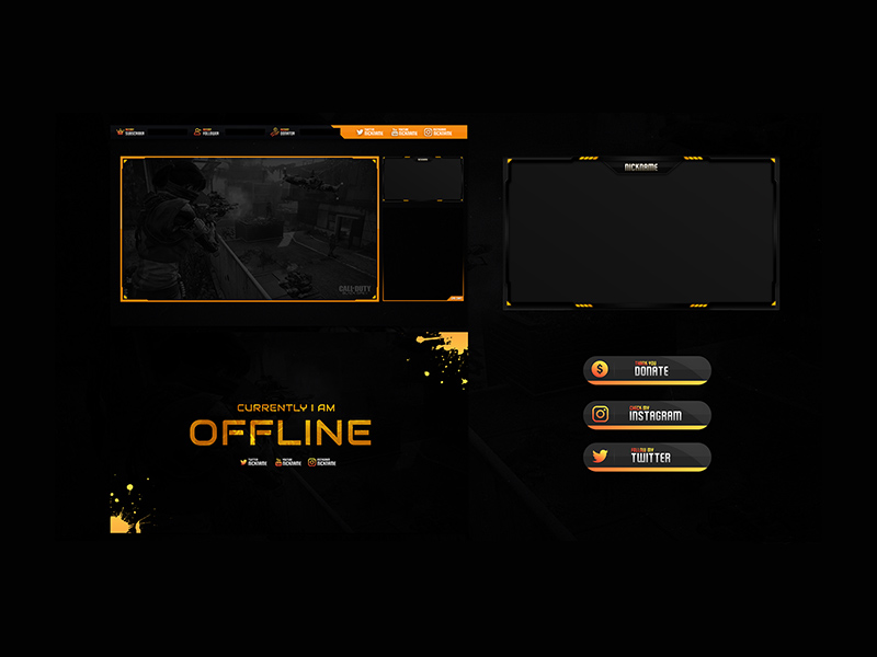 Free Twitch Stream Overlay Template For Black Ops - Freebie