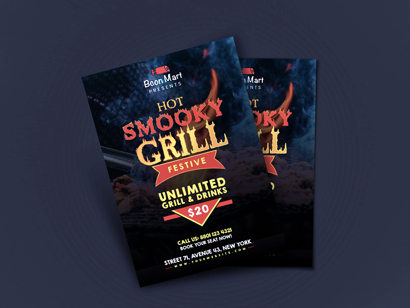 grill bbq flyer template free resource freebie supply
