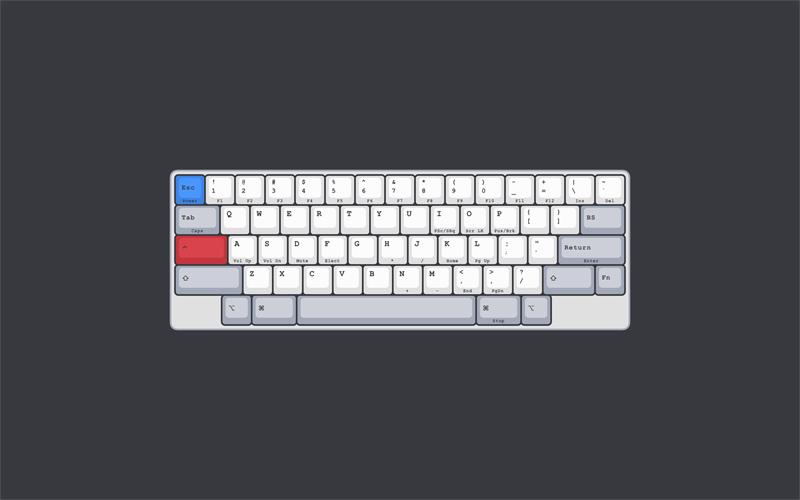 HHKB Keyboard Illustration made in Sketch - Freebie Supply