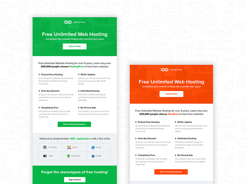 Email Newsletter Templates | Hostfree Email Newsletter Template Freebie Supply