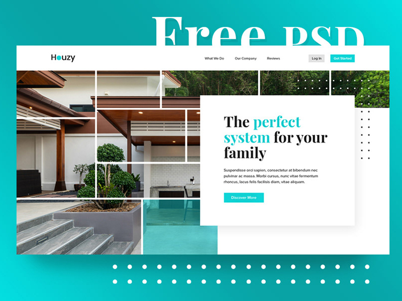 Home Services Website Template Psd Freebie Supply