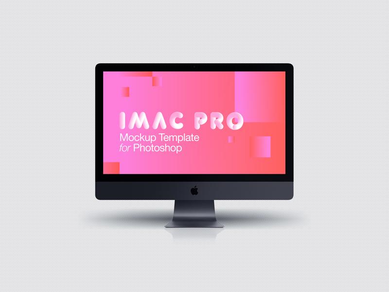 iMac Pro 2017 Dark Grey Front Mockup PSD - Freebie Supply