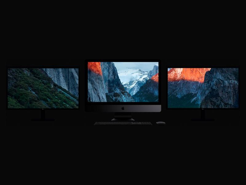 iMac Pro Mockup With Multiple Screens by Dima Boychuk
