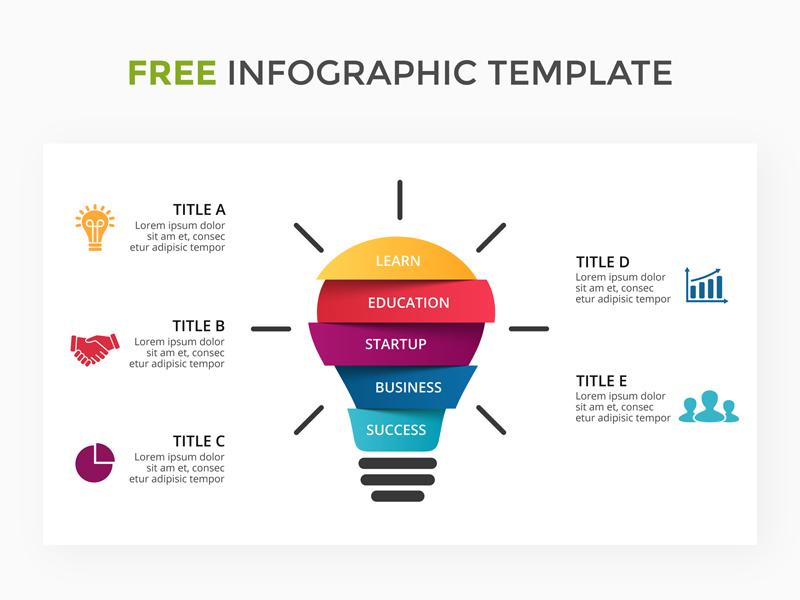 Infographic Template | Infographic Template With Light Bulb Freebie Supply