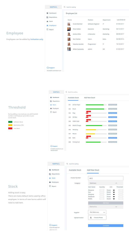 Adobe Xd Dashboard Template Inventory Management System Ui Design Freebie Supply