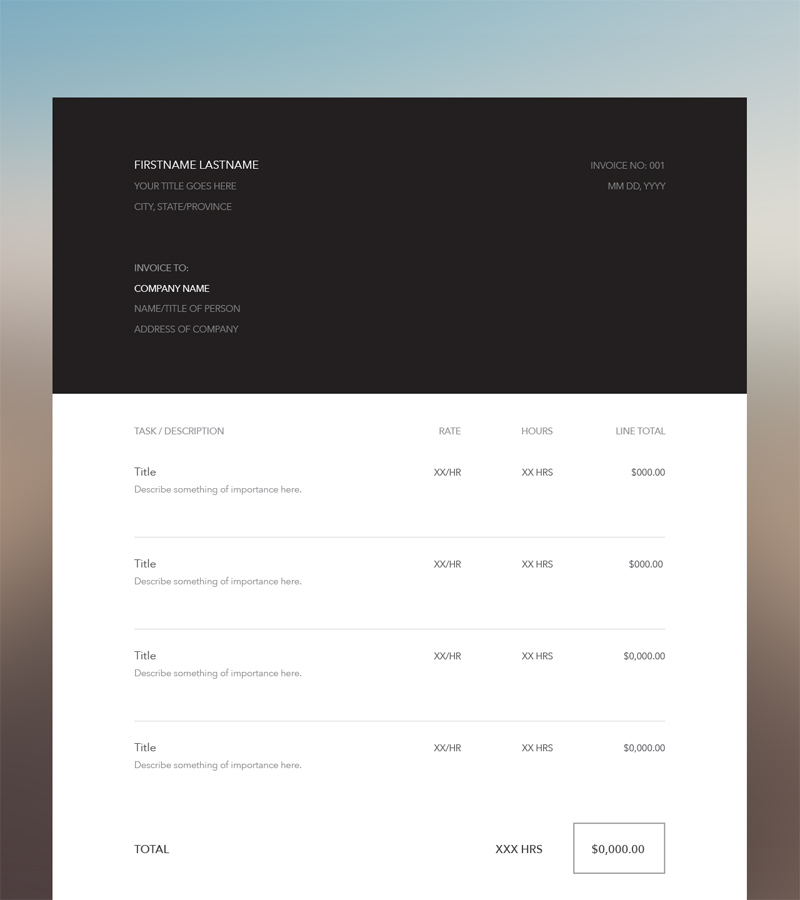 Invoice Ui Freebie Supply
