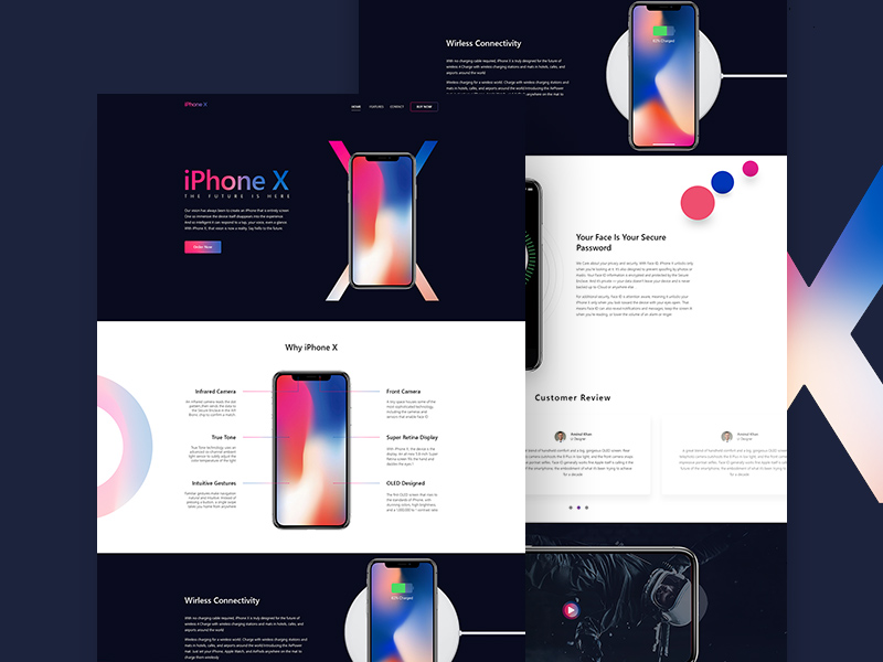 Iphone X App Landing Page Html