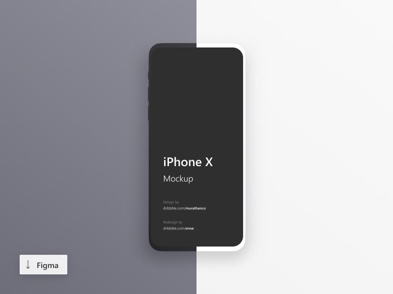 iPhone X Minimalistic Mockups for Figma - Freebie Supply