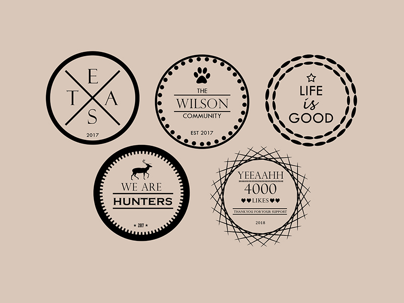 Logo Badge Templates Free Resource Freebie Supply
