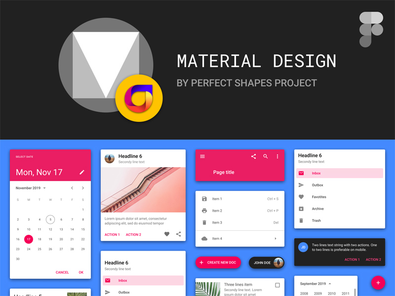 Material Design Kit For Figma Freebie Supply