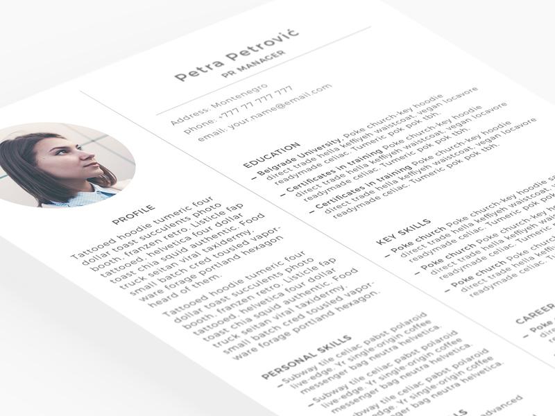 Minimal Resume Template from cdn.freebiesupply.com