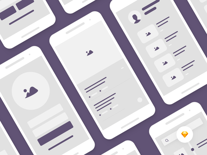 Mobile Wireframe UI Kit - Sketch Freebie - Freebie Supply