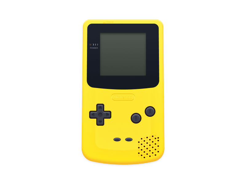 nintendo gameboy color made with figma freebie supply