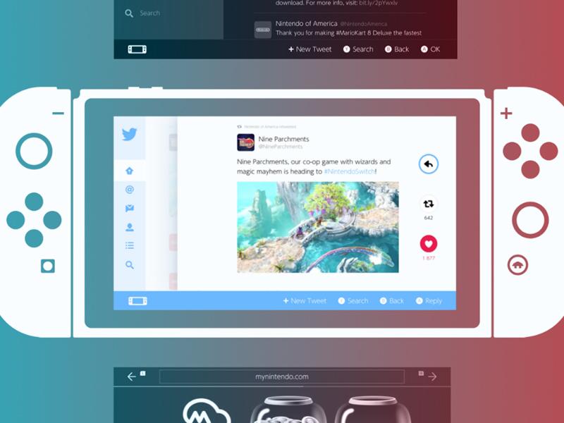 Nintendo Switch UI Kit - Sketch Resource - Freebie Supply
