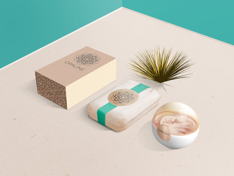 Opaline Mockup For Cosmetic Branding Freebie Supply