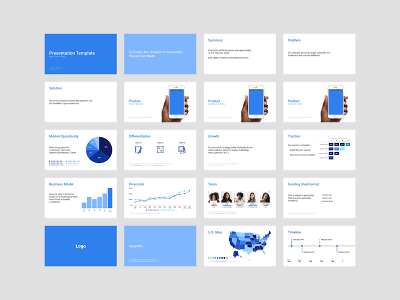 Investor Pitch Deck for Figma - Freebie Supply