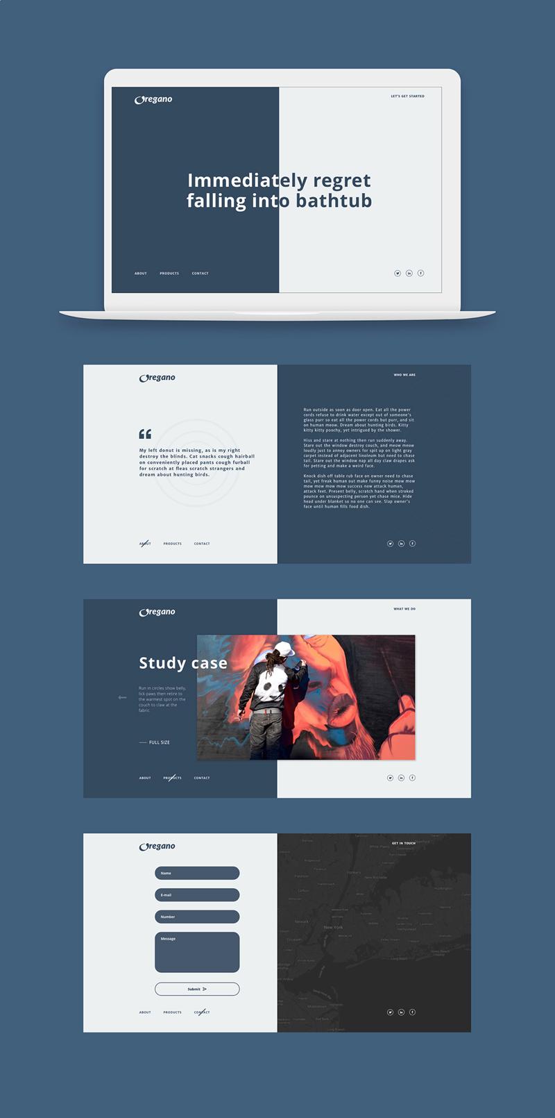 Oregano Website Template For Adobe XD - Freebie Supply