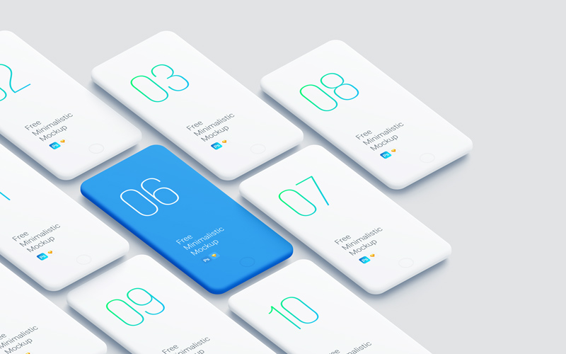 Perspective iPhone Smooth Mockups - Free Sketch - Freebie Supply