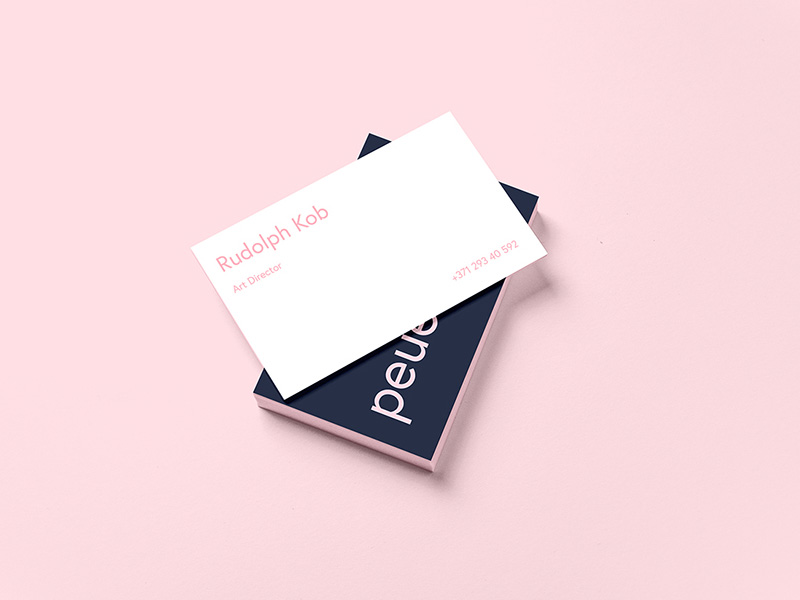 Peue Business Card Mockup Sample Free Psd Freebie Supply